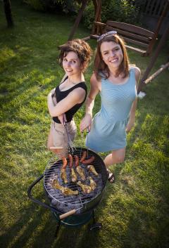 Mulheres na churrasqueira? Sim, por que não?